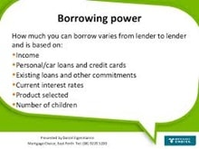 Shows how borrowing power can vary between lenders
