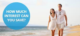 loan broker sydney - young couple walking along a beach - thinking how much interest can you save?