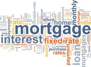Collage of mortgage terms