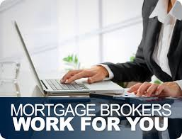 mortgage broker using a laptop computer