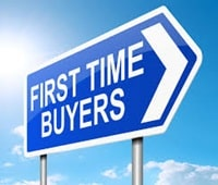 First time buyers road sign