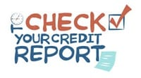 Check your credit report notice with a check box ticked