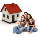 Young family with first home