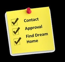 List stating contact, approval, find dream home