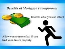 Showing benefits of mortgage pre approval