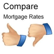 Thumbs up and down compare mortgage rates