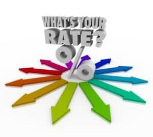 What's Your Rate in 3d letters sitting on splayed colorfil arrows to asking if you are getting the best percentage option