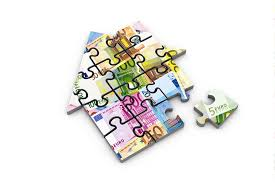 https://mastermortgagebrokersydney.com.au/mortgage-broker-blacktown - jigsaw puzzle in the shape of a house picturing bank money notes