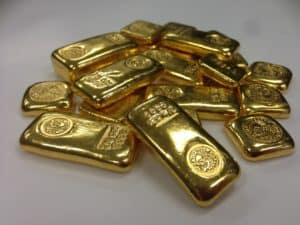 smaller 24kt gold bars