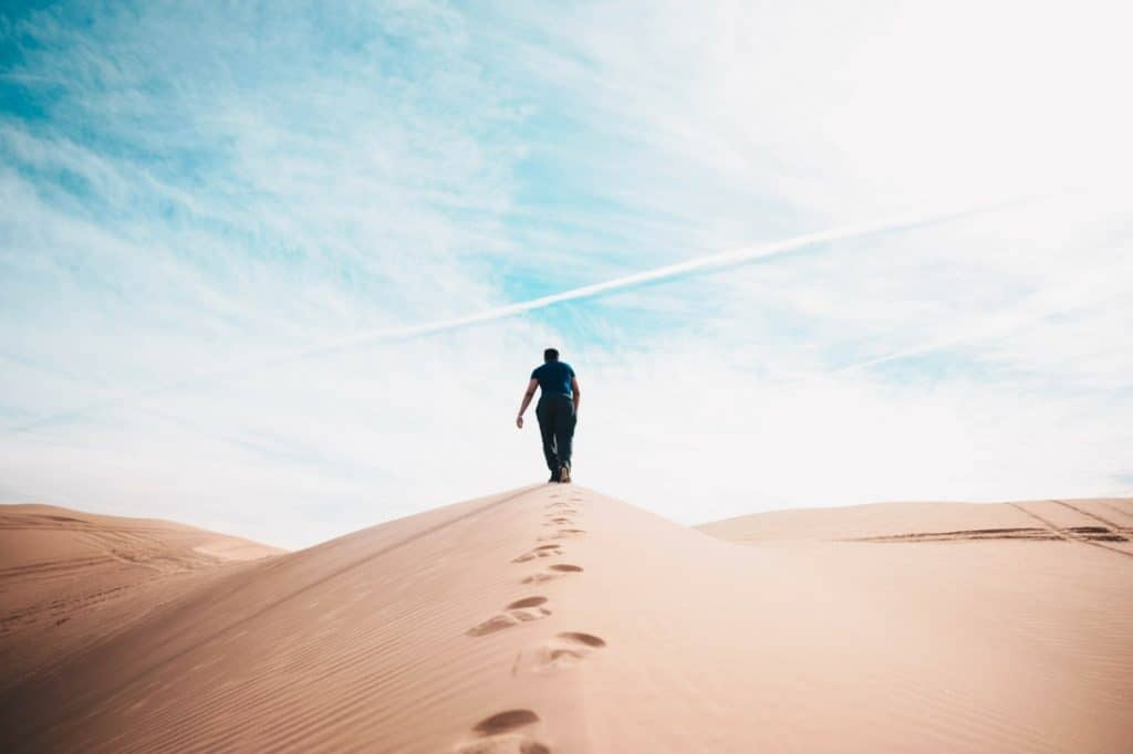 mortgage brokers - man wandering in the desert