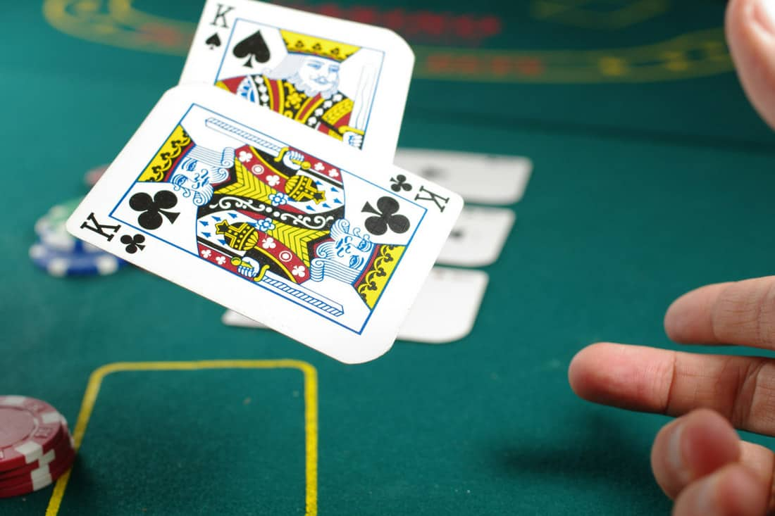 Mortgage broker- playing cards on a poker table