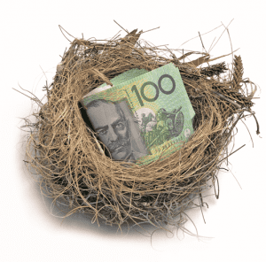 first home loan - 100 dollar bills snuggly sitting in a birds nest