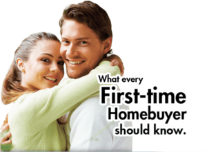 first home buyer loan - happy young woman with arms around the neck of her partner