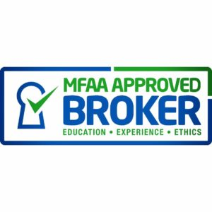 Image stating MFAA Approved Broker